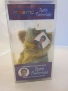 NSYNC Justin Timberlake Rare Bear Limited Edition NEW sealed in case