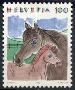 Switzerland 1990-5 SG#1196, 100c Horse & Fowl Definitive MNH #E18534