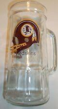 Washington Redskins Clear Glass Mug~Vintage~1970's?~14 Ounce~NFL~FREE Shipping
