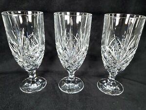 MINT Godinger Shannon Crystal Dublin Ice Tea/Water Glasses Set of 3 Never Used