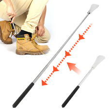64cm Stretchable Shoe Horn Stainless Steel Silver Metal Shoes Remover Shoehorn
