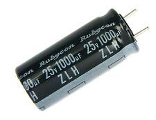 6pcs Rubycon ZLH 1000uf 25v 105C Radial Electrolytic Capacitor Low ESR