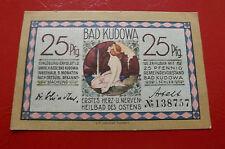 *Notgeld Bad Kudowa (Schlesien)* 25 Pfennig  * (68) (ORD.1)