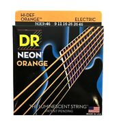DR Strings Guitar Strings Electric Neon Orange 09-46 Light and Heavy