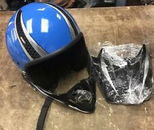 POLARIS Snowmobile Helmet BLUe/WHITE/GR  1150 Xxs