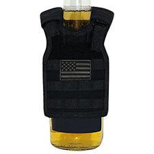 USA Flag Black Miniature Tactical Vest Beverage Holder