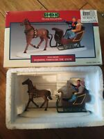 2000 Lemax Village Collection Dashing Through The Snow In Box