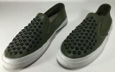 Coach Chrissy Women's Sneakers Slip On Rivets Olive Green Size 10 M