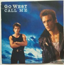 "Go West - Call Me - Chrysalis Records Picture Sleeve 7"" Single GOW 1 VG+/VG"
