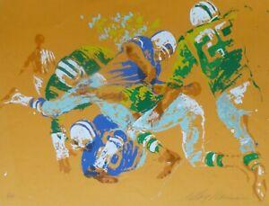 "LeRoy Neiman ""Orange Football"" Hand Signed vintage Serigraph 1972"