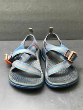 Chaco Size 1 Kids Youth Blue/Orange Z/1 Classic Strappy Water Sports Sandals