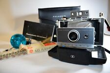 Vintage Polaroid Land Camera Automatic 100 With Flash, Cold Clips, Bulbs & Case