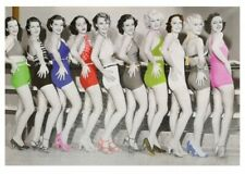 CANVAS PICTURE PAINTING 1950's BEAUTY SHOW BRIGHT COLOURFUL MOODY UK SELLER