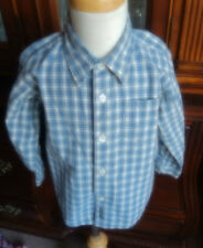 Old Navy Cotton Blend Multi-Color Long Sleeve Boy Shirts 3T Plaids and Checks