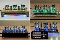 TANYA Desk Clock 6x VFD IV-6 Tubes + RGB Leds + Remote + Power + Case Nixie Era!