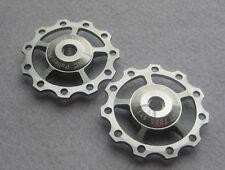 2 Anodised Sealed Bearing11T Pulley Jockey Wheels Shimano Sram XX XO X9 X7