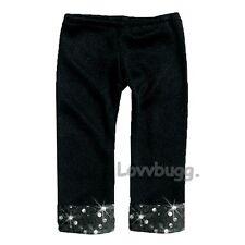 "Black Sequins Leggings for 18"" American Girl or Gotz Doll Clothes Lovvbugg Found"