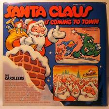 Caroleers: Santa Claus is Coming to Town - Childrens Christmas LP Vinyl RARE 60s