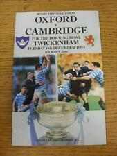 06/12/1994 Rugby Union Programme: Oxford v Cambridge [At Twickenham]. Item in ve