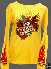 HARLEY DAVIDSON LADIES EAGLE TATTOO L/S  SHIRT (M)