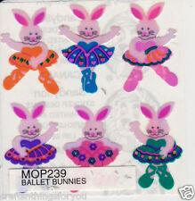 Sandylion SUPER RARE Mother of Pearl BALLET BUNNIES Stickers. HARD TO FIND M13