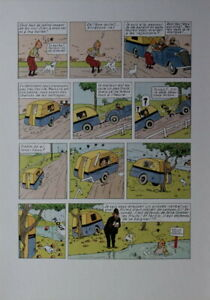 Hergé-Tintin-Planche,tiré a part-Grand format-Limité&Numéroté-1000 exempl.-1996