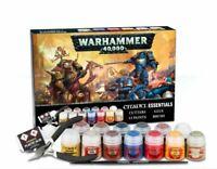 Warhammer 40K Citadel Essentials - Cutters, Glue, Paints & Brush Set