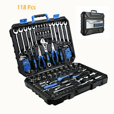118Pc Mechanics Tool Sets Kit Repair Tool Screwdriver Bits/Wrench/Sockets/Drive