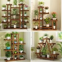 Wooden Multi Tier Plant Stand Flower Rack Shelf Bonsai Holder Home Garden Corner