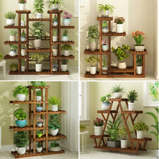 Wooden Multi Tier Plant Stand Flower Rack Shelf Bonsai Holder Home Garden Corner