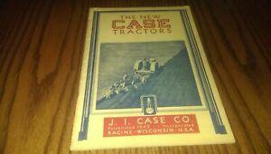 Vintage New J.I. Case Tractors Brochure Catalog Farming Farm Advertising IH