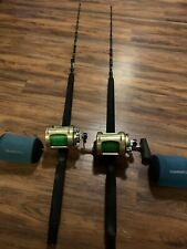 2 X Shimano Tiagra 30W Lrsa 2-Speed Reels On CalStar 30-80lbs Baby Boomer Rods