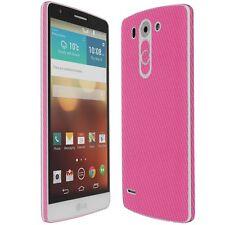 Skinomi Carbon Fiber Pink+Clear Screen Protector For LG G3 Vigor