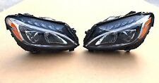 15 16 17 MERCEDES C CLASS LED HEADLIGHT SET LH RH W205 C300 C350 OEM PAIR