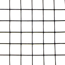 "3' x 100' Welded Wire 19 ga. galvanized steel core Black PVC coating 1x1"" Mesh"