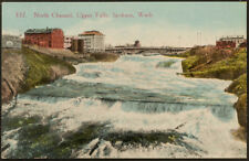 337. North Channel, Upper Falls, Spokane, Wash., printed postcard