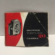 Vintage Kodak Brownie Reflex 20 Camera Manual Booklet