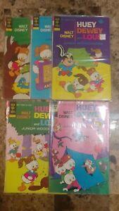 Walt Disney Huey Dewey and Louie #15, 25, 28, 30, 43 Gold Key & Whitman VG!