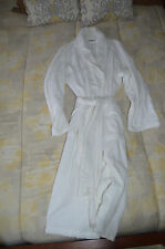 YVES DELORME Etoile  Spa Terry Robe Shawl Collar long Milk White size L