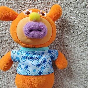 Mattel Sing-A-Ma-Jigs Orange Bear Plush Sings On Top Of Old Smokey. Battery inc.