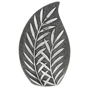 Willow Large Wide Vase - Gunmetal