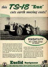 1956 Euclid Equipment Print Advertisement: Model TS-18 Twin Power Scraper Shown
