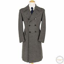 NWOT Ralph Lauren Purple Label Grey Angora Cashmere Dbl Breast Great Coat 42R