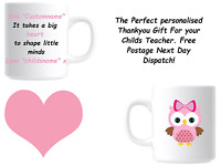 Perfect Personalised Thank You Teacher Mug for End of Term Present Leaving Gift