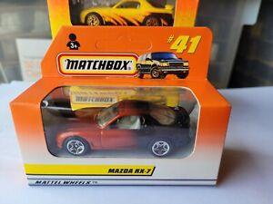 MATCHBOX SUPERFAST 1998 - MAZDA RX7 [ORANGE/BLACK] CAR MINT BOX GOOD