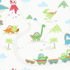 Holden Decor Dino Town Childrens Kids Bedroom Girls Boys  Wallpaper