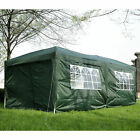 Outsunny 3m x 6m Pop Up Gazebo Party Tent Canopy Marquee with Storage Bag Green