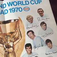 Vintage Football Poster/Esso Petrol/England 1970 World Cup Squad Signed/Printed