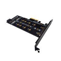 XT-XINTE M.2 NVMe SSD NGFF to PCIE X4 Adapter Card Key M+B Dual Interface