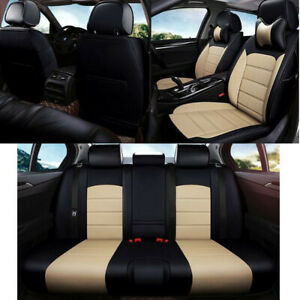 Faux Leather full cover Car seat cover for Mazda CX-3 2015 - 2018 Black Beige